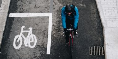 Person cycling