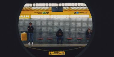 Passengers waiting for a train in Milan